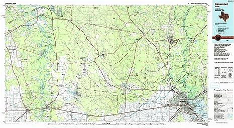 Map Of Beaumont Texas.Amazon Com Yellowmaps Beaumont Tx Topo Map 1 100000 Scale 30 X