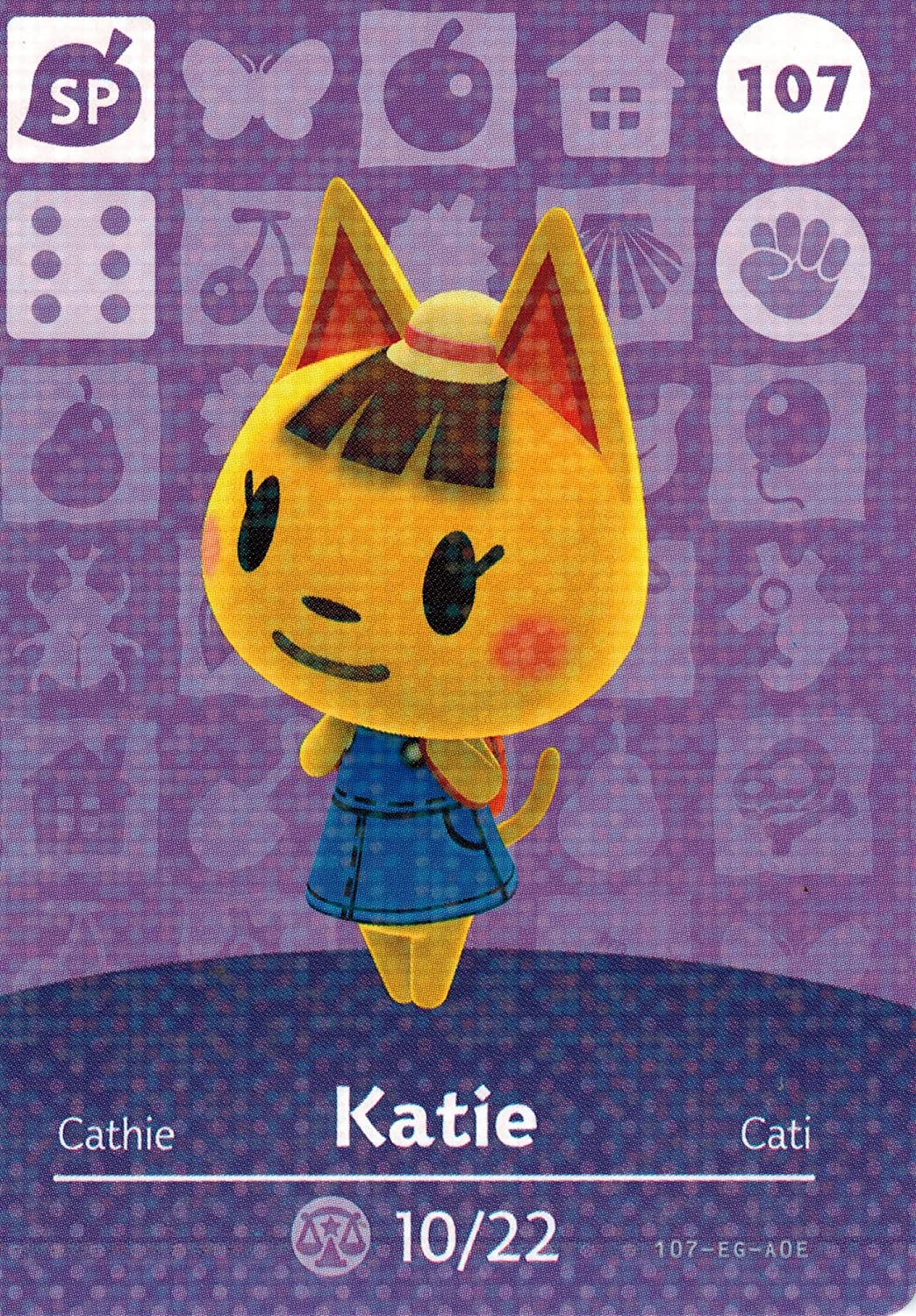 Nintendo Animal Crossing Happy Home Designer Amiibo Card Katie 107/200 USA Version