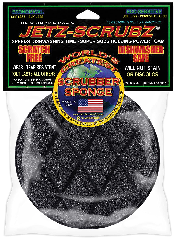 Jetz-Scrubz J22 Scrubber Sponge, Round, Made in the USA
