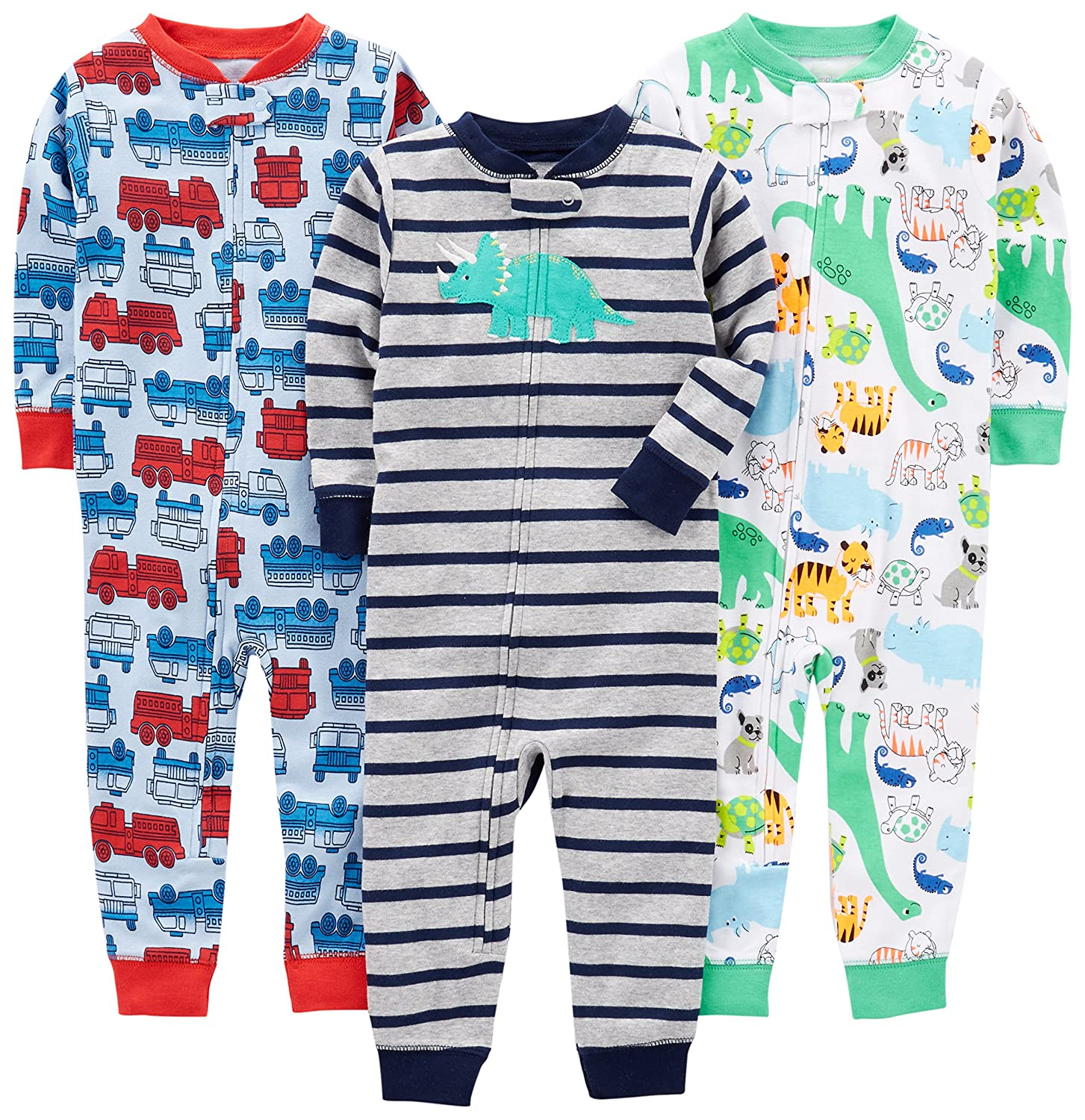 Simple Joys by Carters Baby Boys 3-Pack Snug Fit Footless Cotton Pajamas