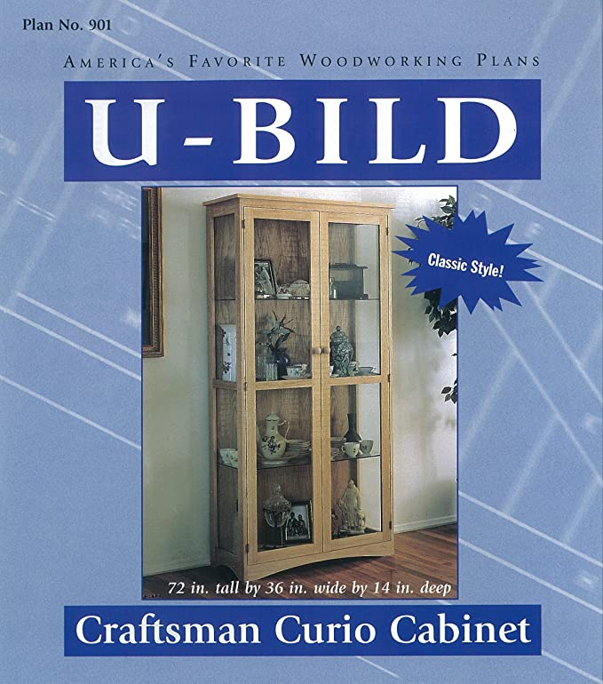 U Bild 901 Craftsman Curio Cabinet Project Plan Indoor Furniture
