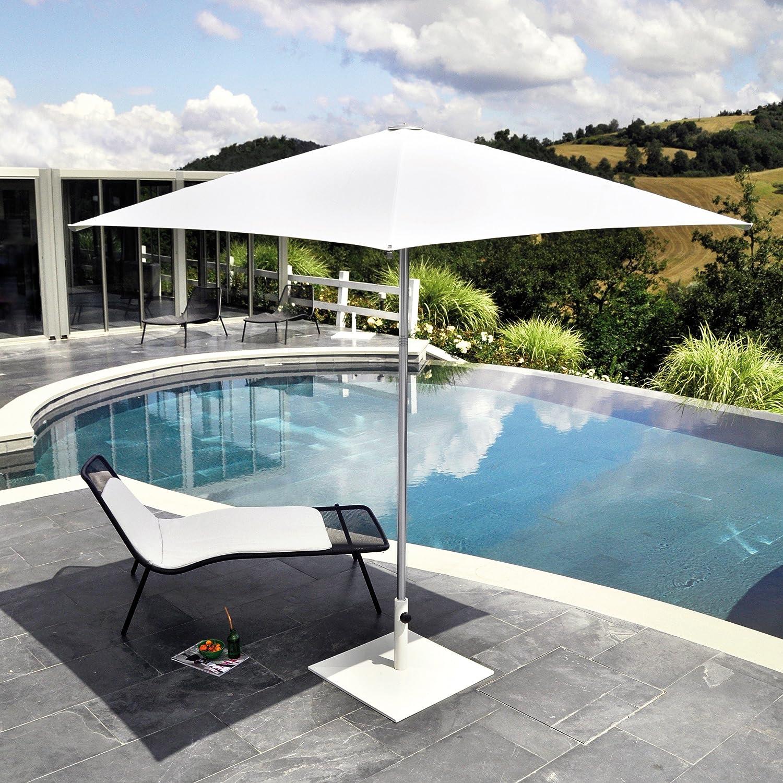 Shade Sonnenschirm Quadratisch 200 X 200 Cm Weiss Kaufen
