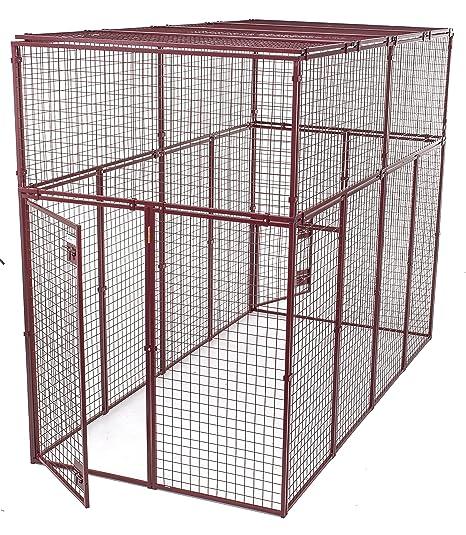 Animal House Heavy Duty Modular Pet Kennel (7 5' Hx10'Lx5'W) 244 2 lbs