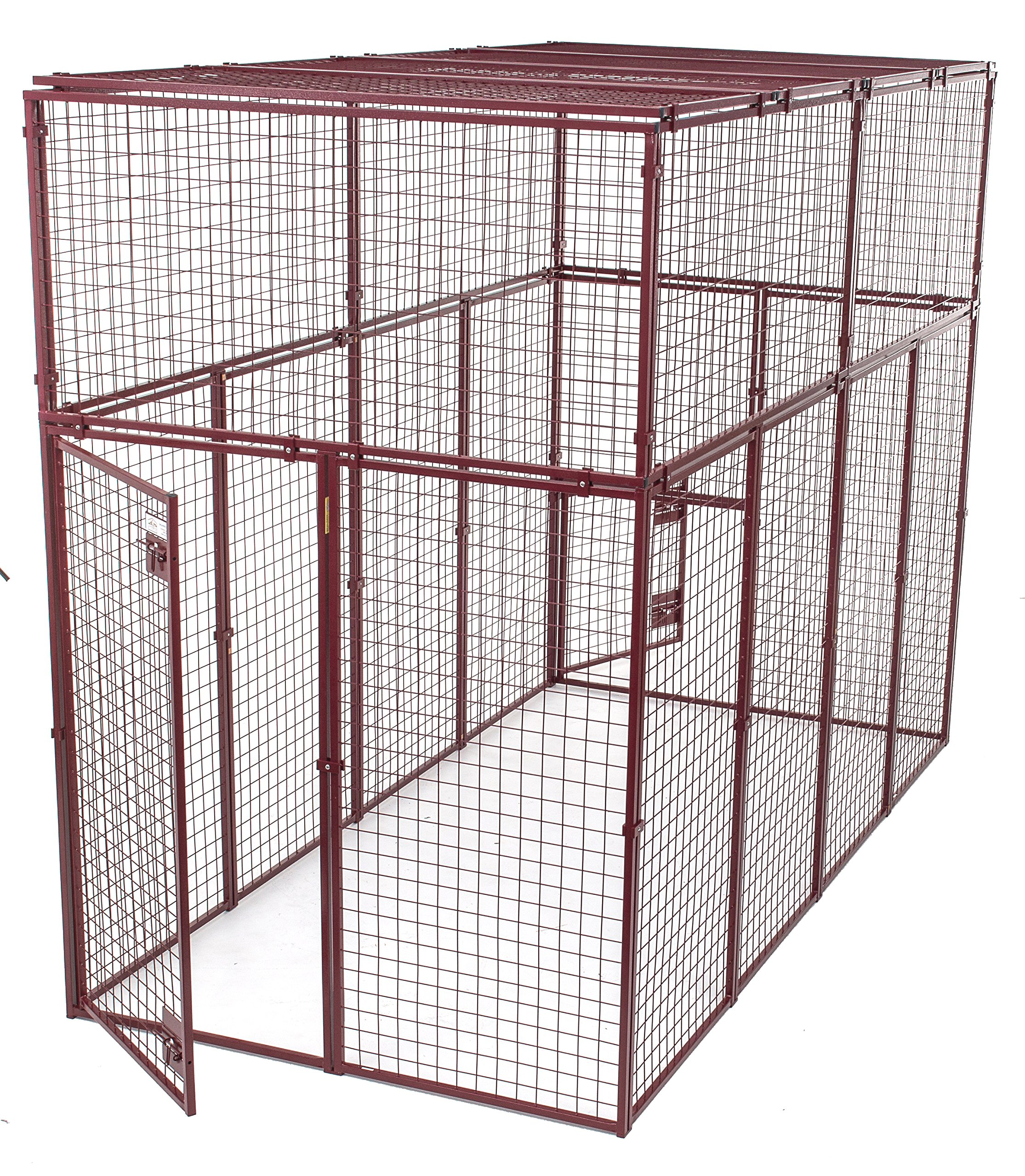 Animal House Heavy Duty Modular Pet Kennel (7.5' Hx10'Lx5'W) 244.2 lbs