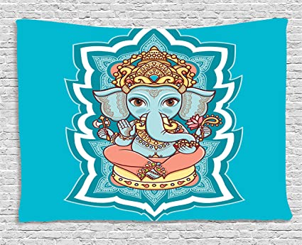 Amazon Com Ambesonne Elephant Bohemian Tapestry Asian Religious