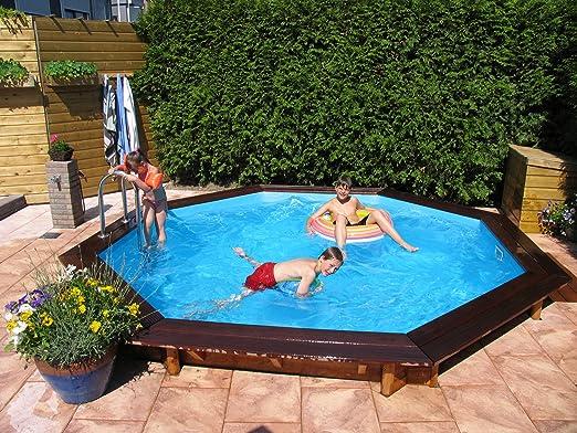 Relativ Schwimmbad Larch (Lärchenholz) Rund 4.40M/1.33M: Amazon.de: Garten XW23