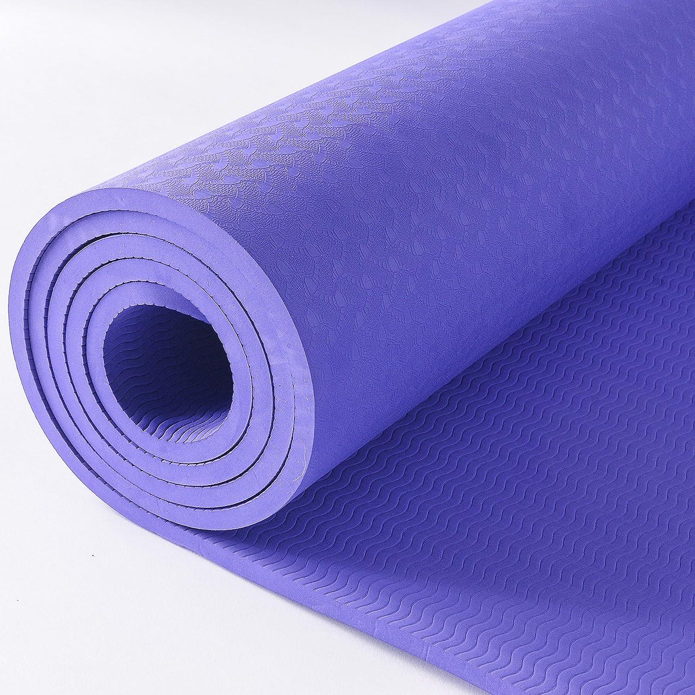 McBly antideslizante Yoga Mat, para entrenamiento ejercicio ...