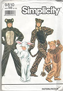 "product image for Simplicity Sewing Pattern 9810 ADULT' Animal Costumes, Size AA 32""-42"""