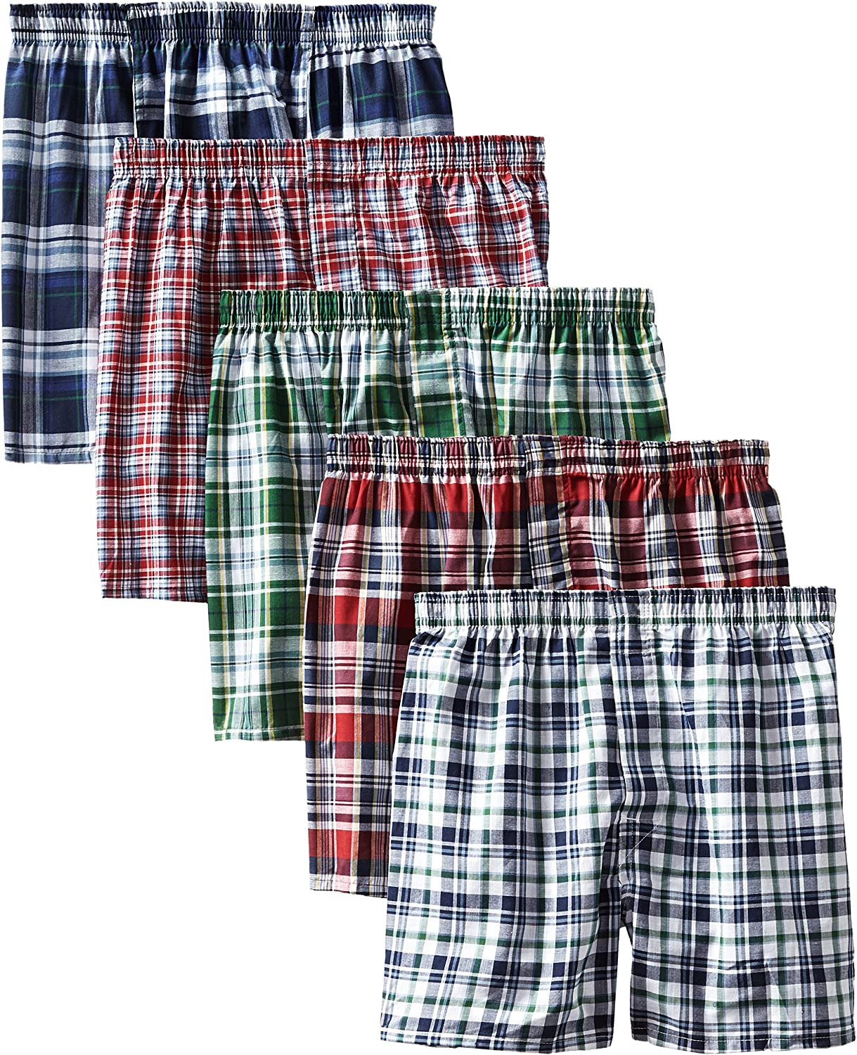 Hanes Mens Boxer Pack with Elastic Waistband