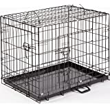 """Dog Crate Puppy Cage XL Extra Large 42"""" Folding Training Cage With Metal Tray (Design 1 Standard Cage, Size 4 - 42"""" XL)"""