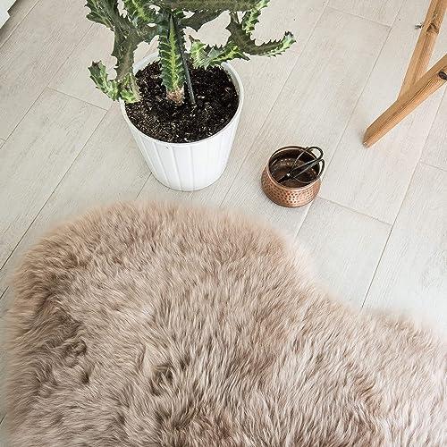 Outlavish Sheepskin Rug Soft Genuine Natural Merino 5.2 x 6ft, Light Brown
