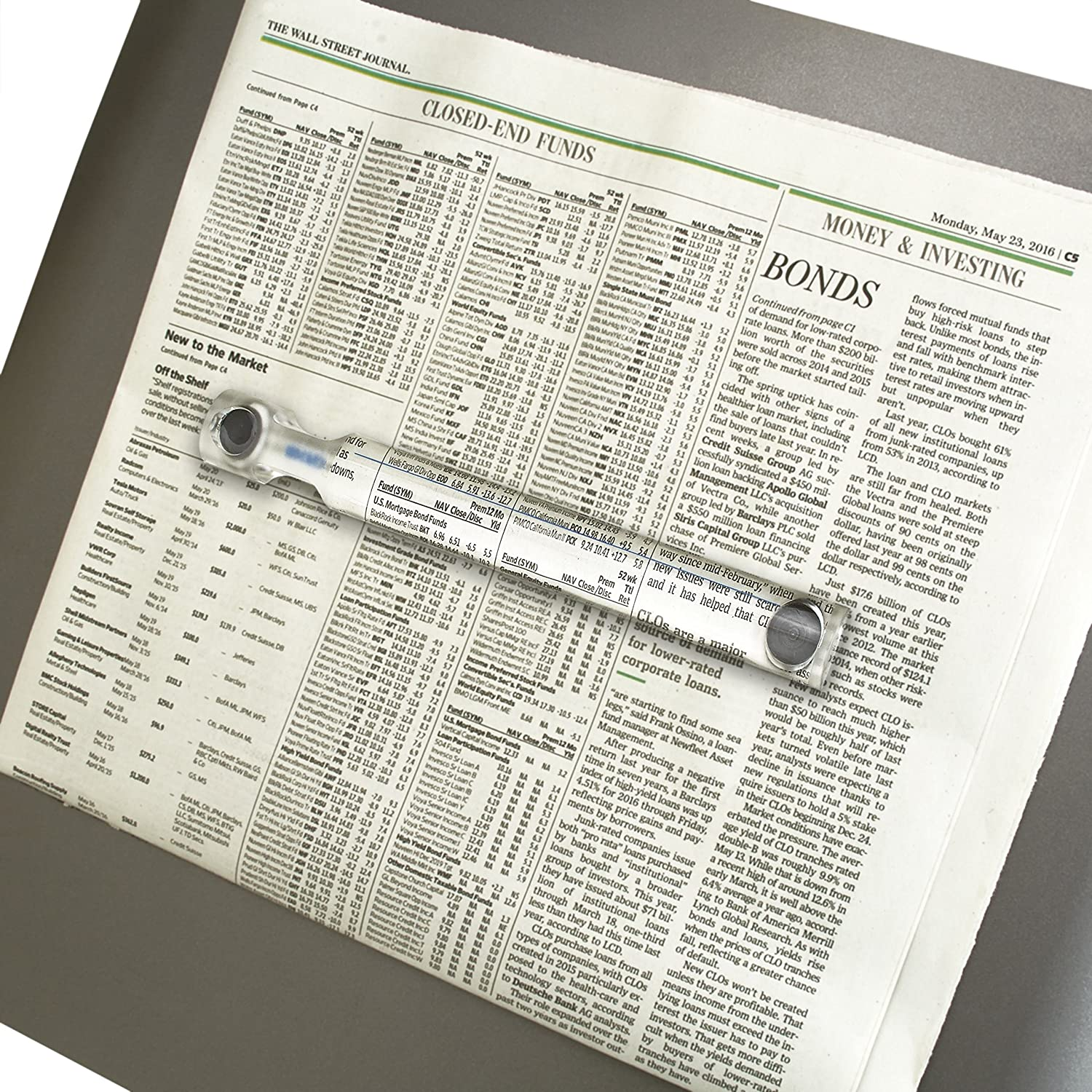 Carson MagniCraft 1.5x Bar Magnifier with Built-In Magnets MC-10