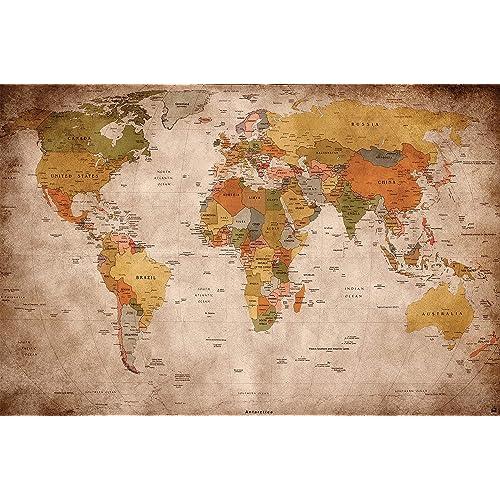 World Map Wall Art: Amazon.co.uk
