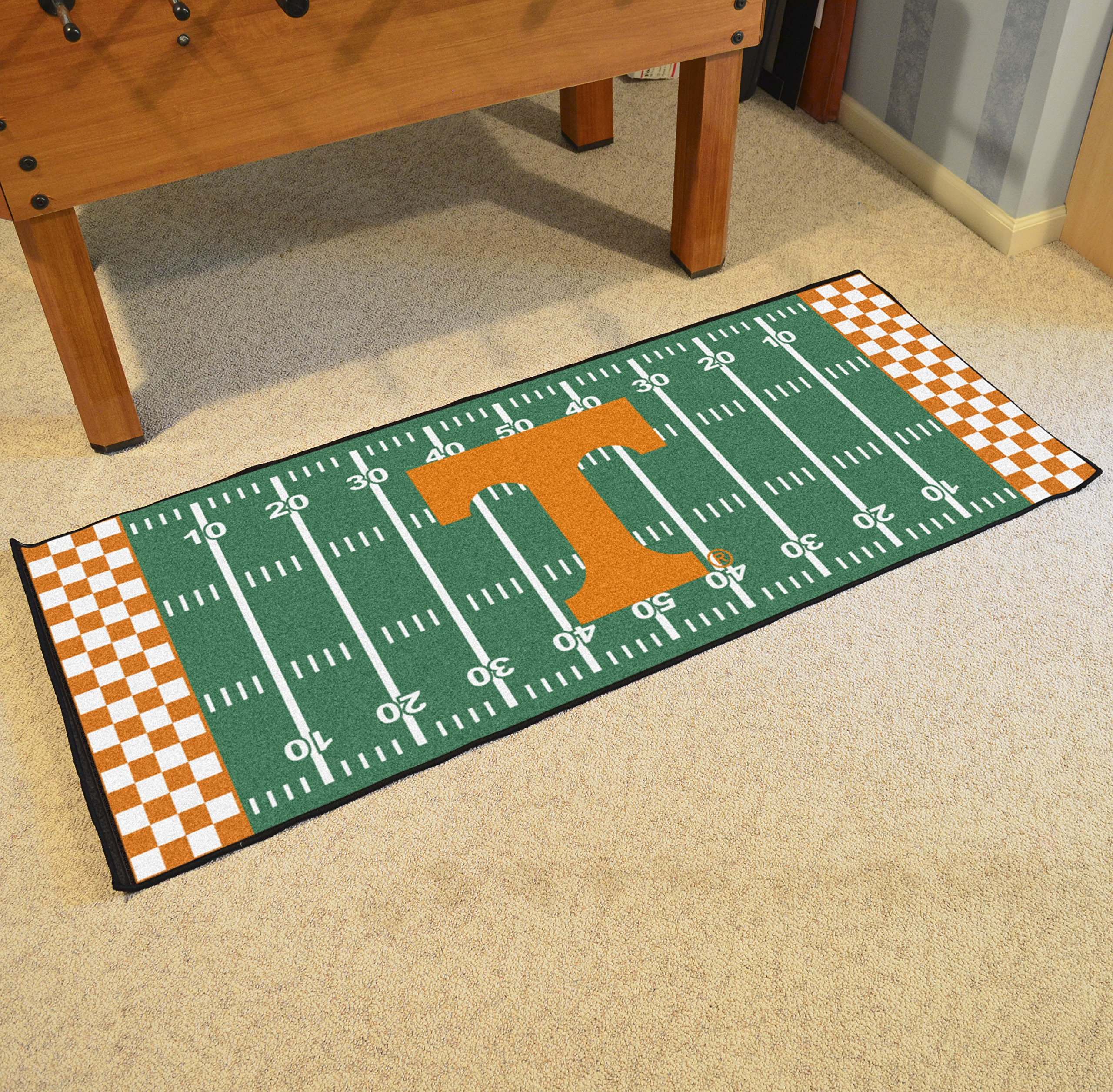 NCAA University of Tennessee Volunteers Football Field Runner Mat Area Rug by Unknown (Image #2)
