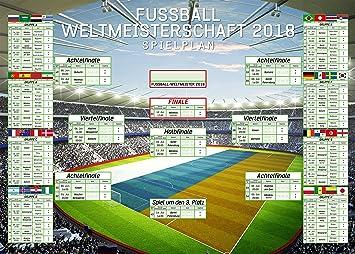 Fusball Xxl Riesenformat Wm Spielplan  Weltmeisterschaft Russland Fussball Poster Plakat Druck Grosse