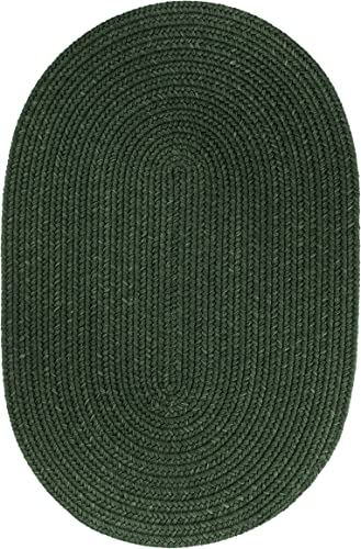 Solid Wool Rug, 3 by 5-feet, Hunter Green