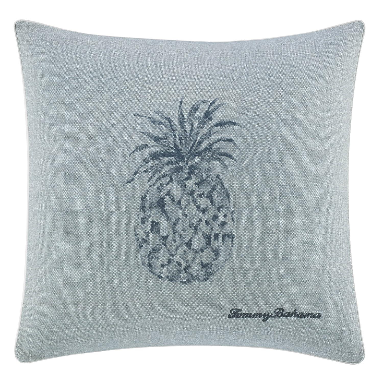 Tommy Bahama Raw Coast Pineapple 22 inch Dec Pillow, 22x22, Blue