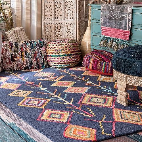 nuLOOM Belini Hand Tufted Wool Rug, 5 x 8 , Navy