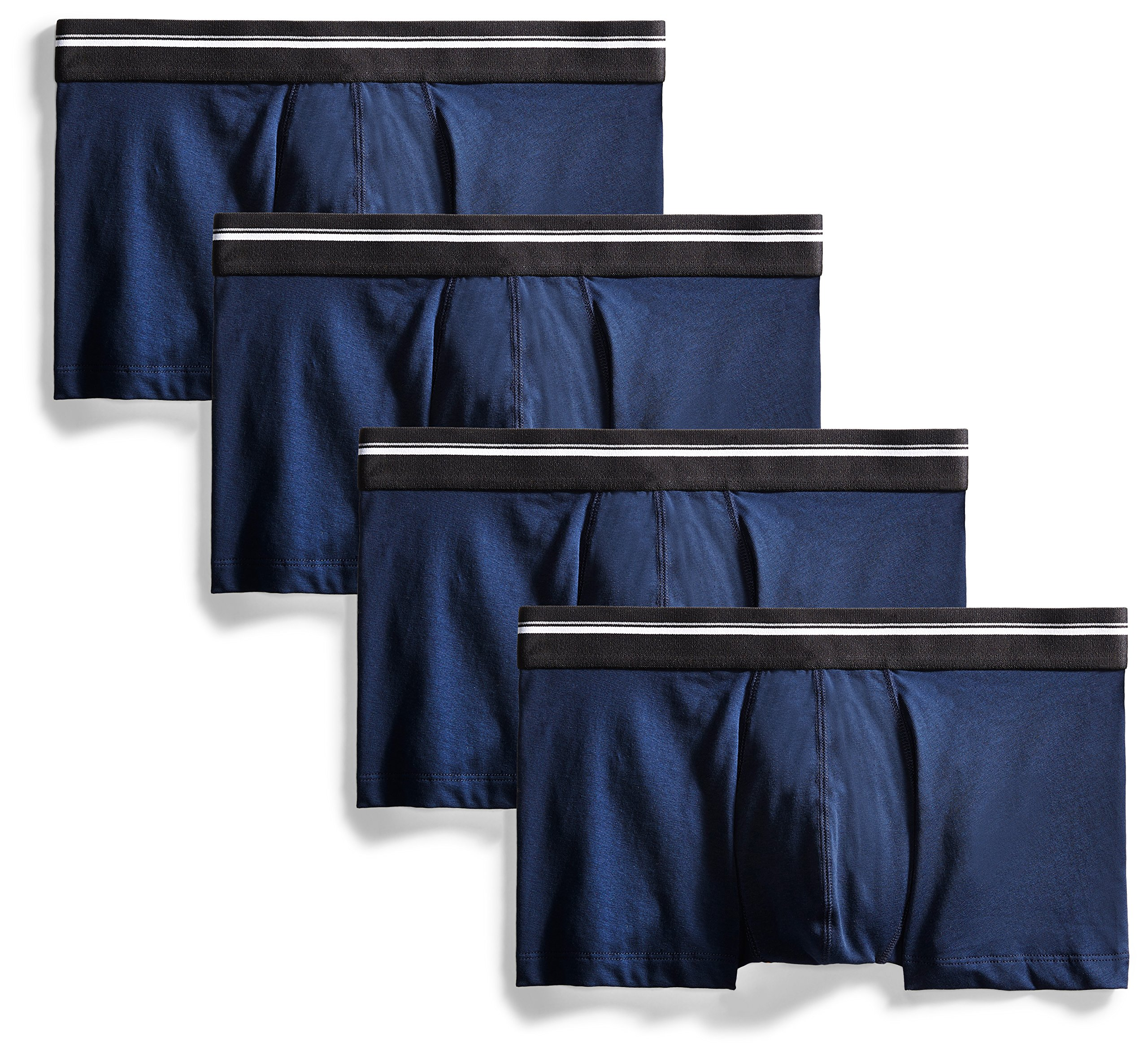 Goodthreads Men's 4-Pack Tag-Free Trunk Underwear, Navy, Medium by Goodthreads