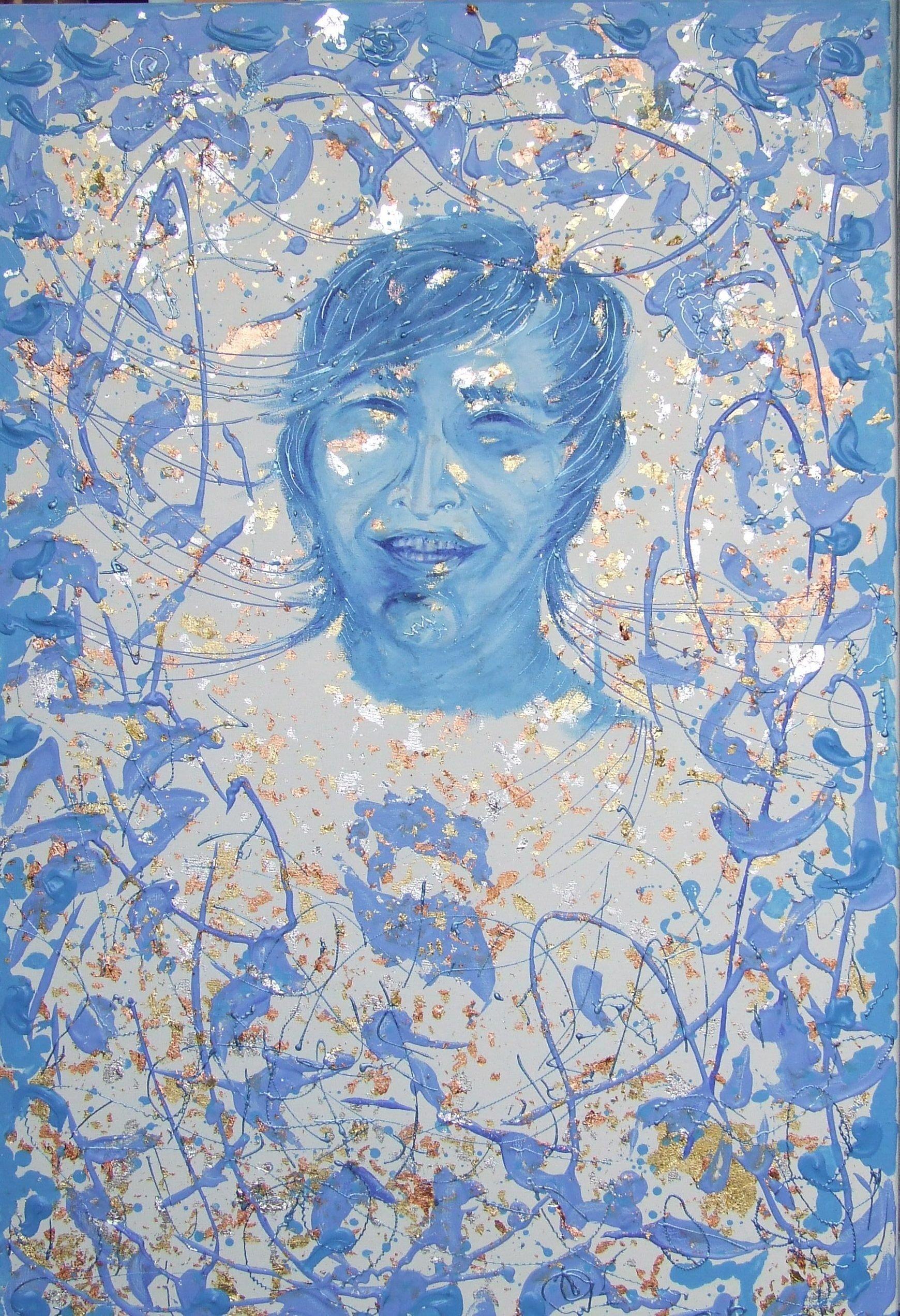 Original art Svetlana Vinokurtsev (artvinok) - I miss your happiness - acrylic on canvas - 90x60 contemporary painting