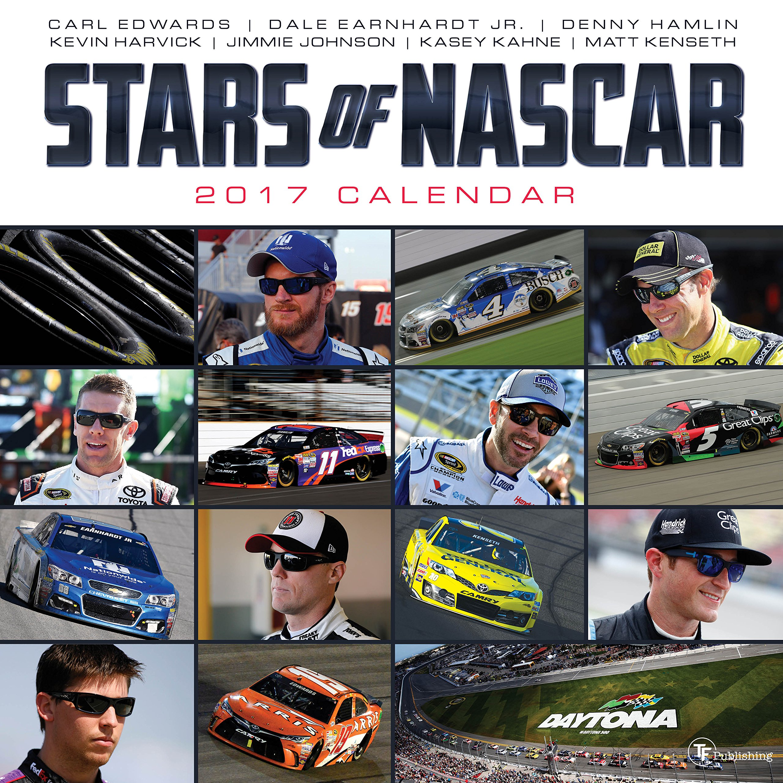 2017 Stars of NASCAR Wall Calendar: NASCAR: 9781624387388: Amazon.com: Books