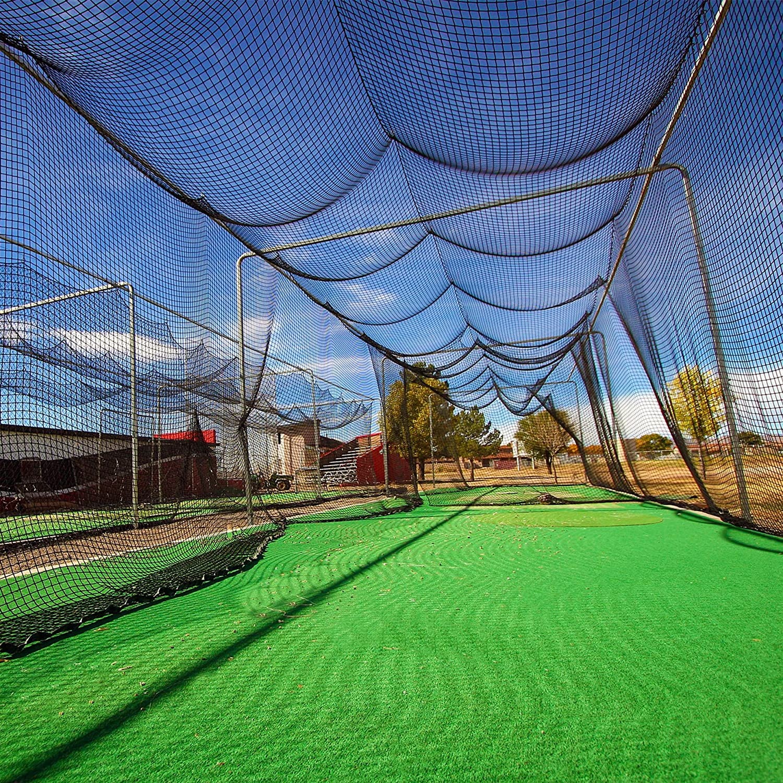 Baseball /& Softball Cage Netting Hitting Cage Net | Professional Fully Enclosed #42 Grade Heavy Duty HDPP Netting 12 Sizes Baseball Batting Cage Nets
