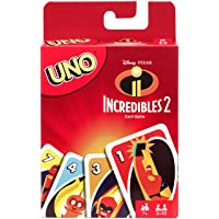 Mattel Games Juego de Cartas UNO Los Increíbles 2