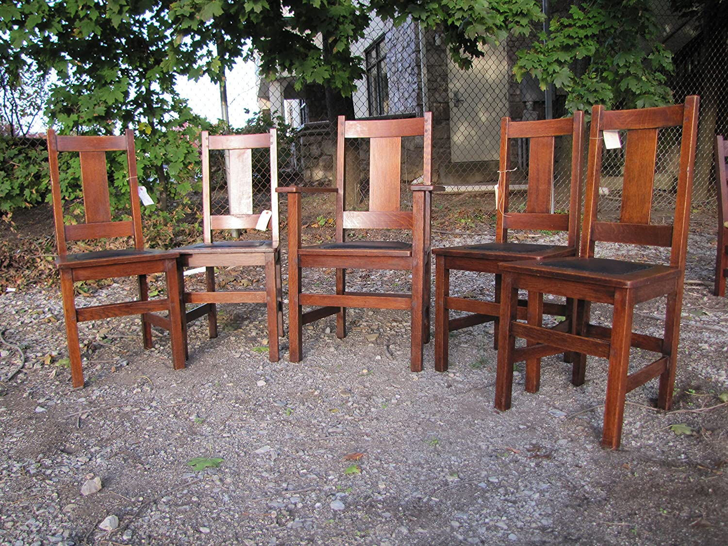 Amazon.com - Antique Set of 6 Limbert Dining Chairs w6 - Chairs