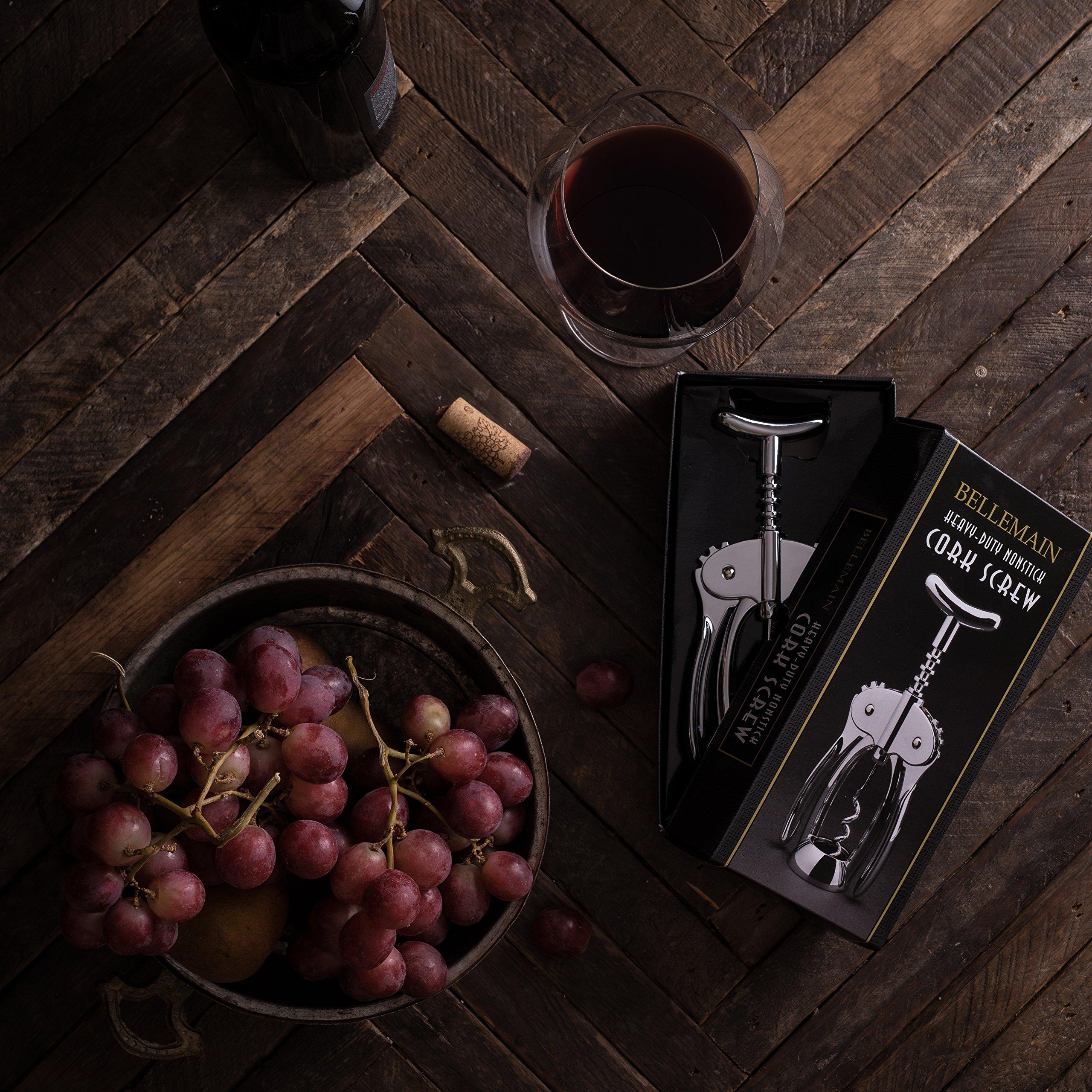 Bellemain Premium Wing Corkscrew Wine Opener Heavy-duty nonstick by Bellemain (Image #5)