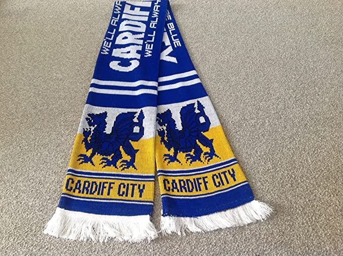 dc010eed32f CARDIFF CITY SUPPORTERS SCARF.. BLUEBIRDS Free post: Amazon.co.uk: Sports &  Outdoors