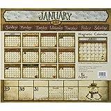 Legacy Publishing Group 2017 Magnetic Calendar Pad, Folk Art