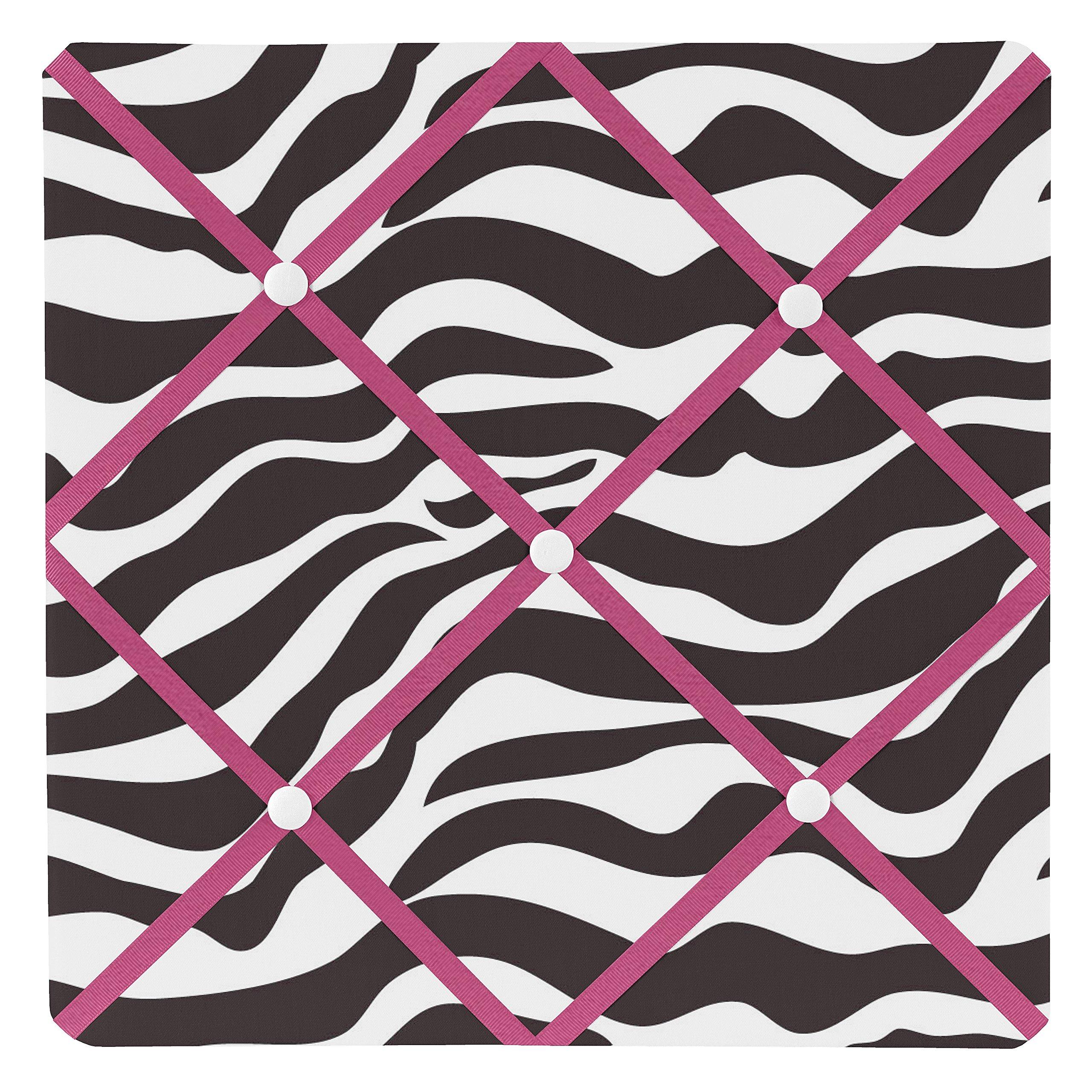 Sweet Jojo Designs Funky Zebra Fabric Memory/Memo Photo Bulletin Board