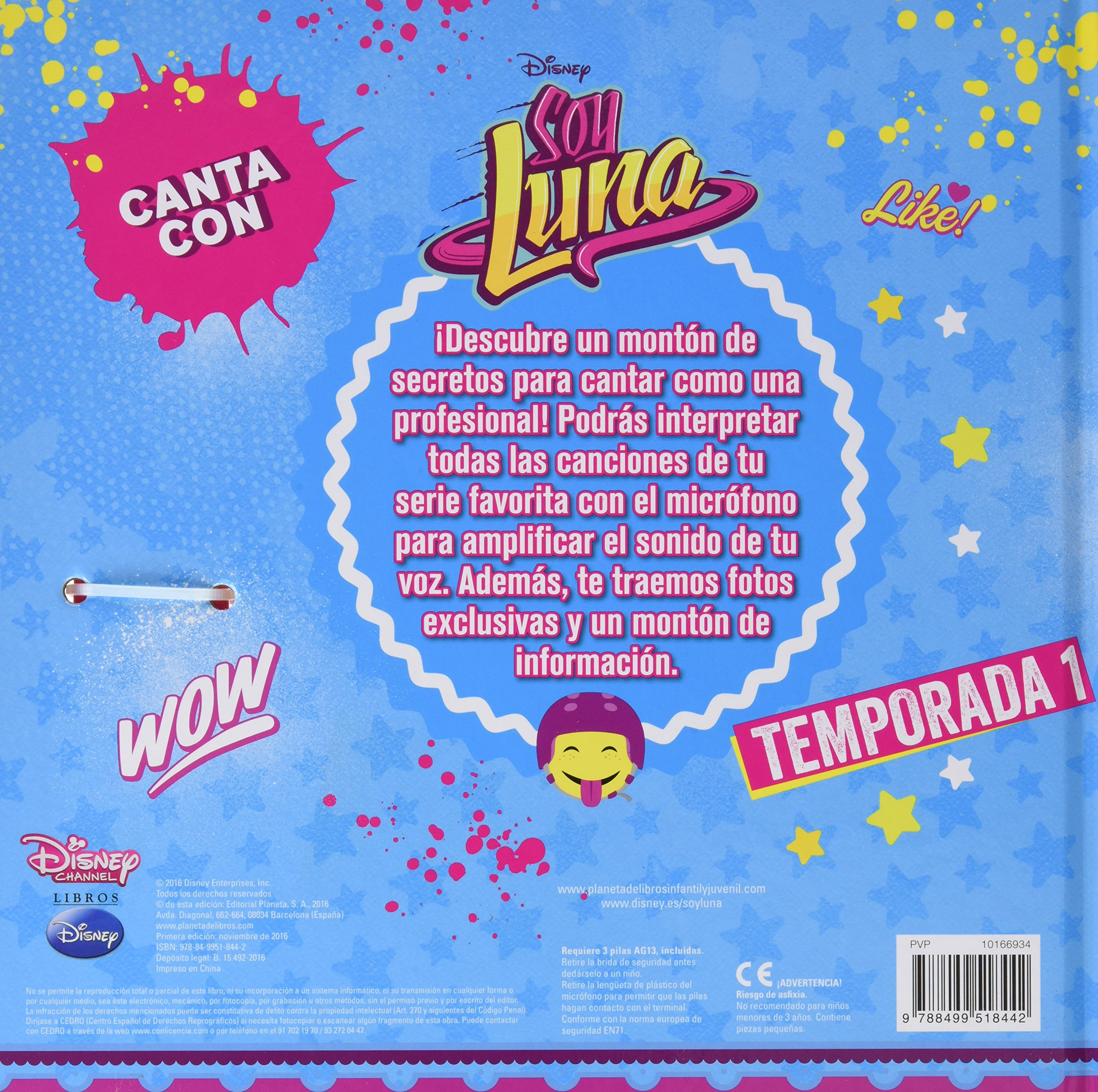 Canta con Soy Luna: Walt Disney Productions: 9788499518442: Amazon.com: Books