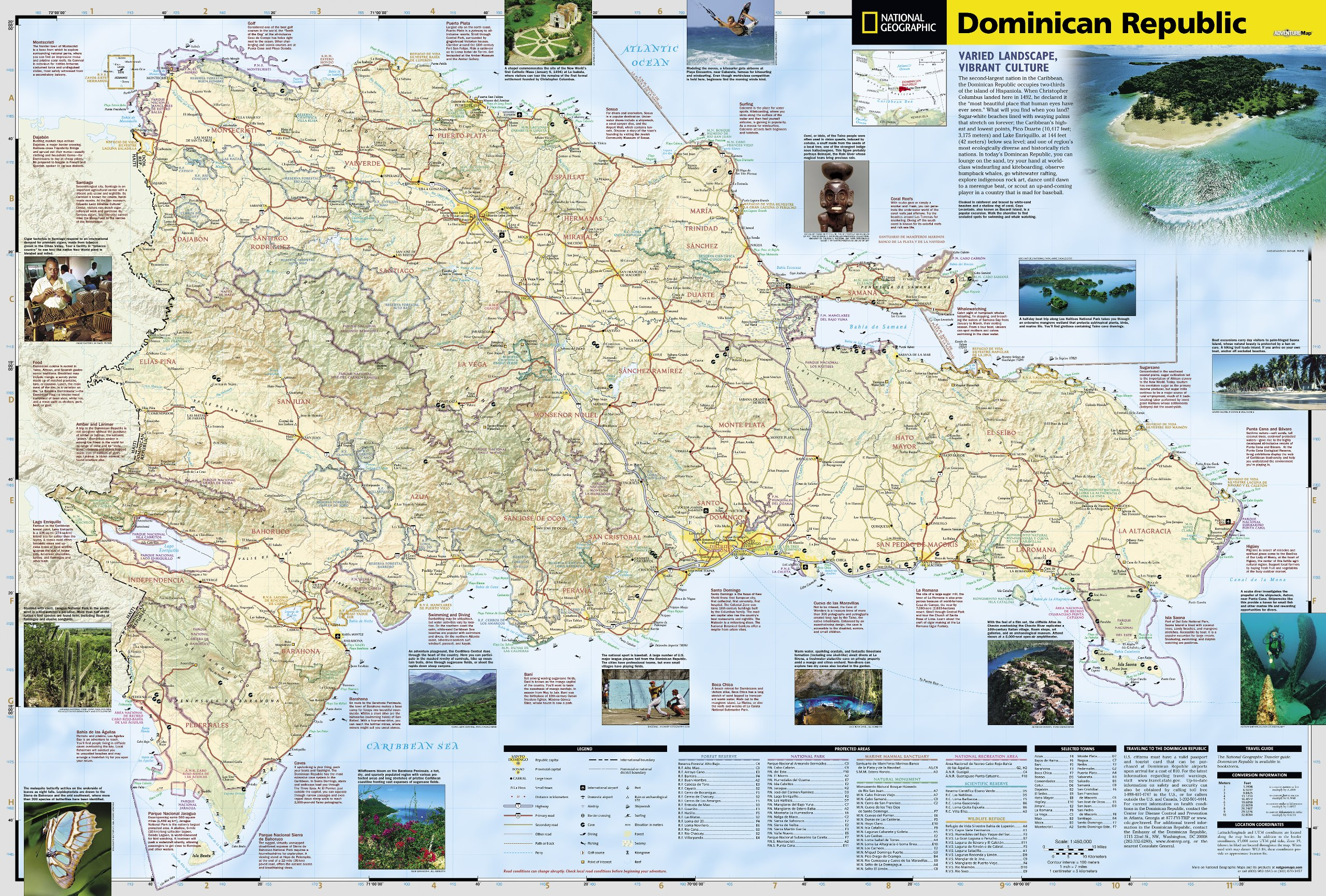 Dominican Republic National Geographic Adventure Map National - Map of the dominican republic