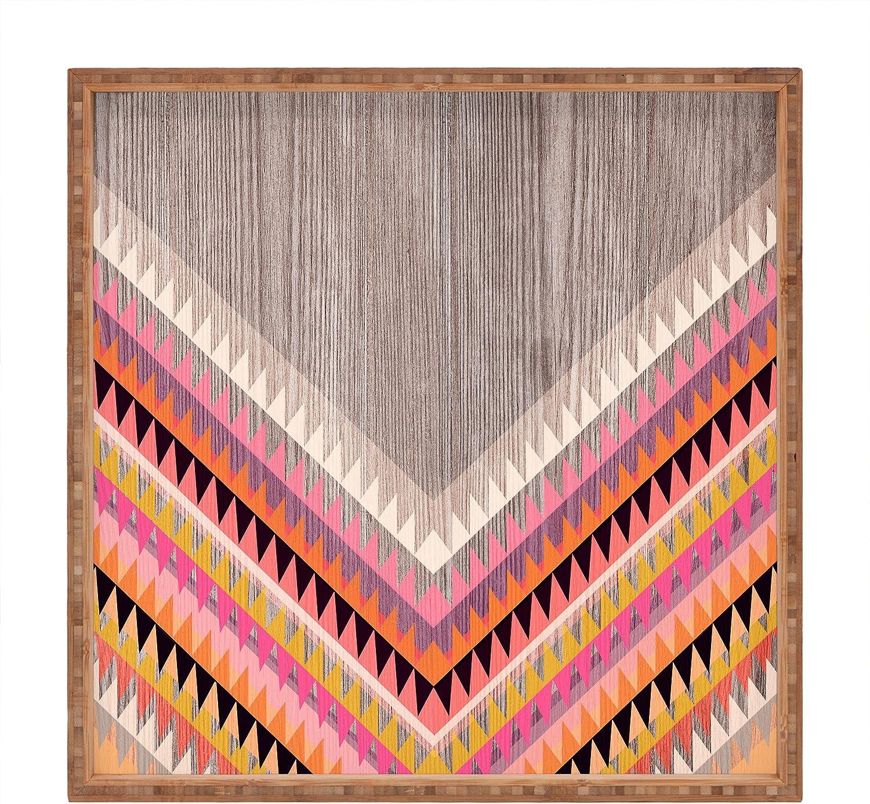 Large//16 x 16 Deny Designs Iveta Abolina Boardwalk Indoor//Outdoor Square Tray
