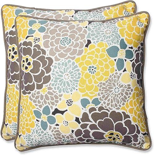 Pillow Perfect Outdoor Indoor Lois Vapor Lumbar Pillows, 11.5 x 18.5 , Blue, 2 Pack
