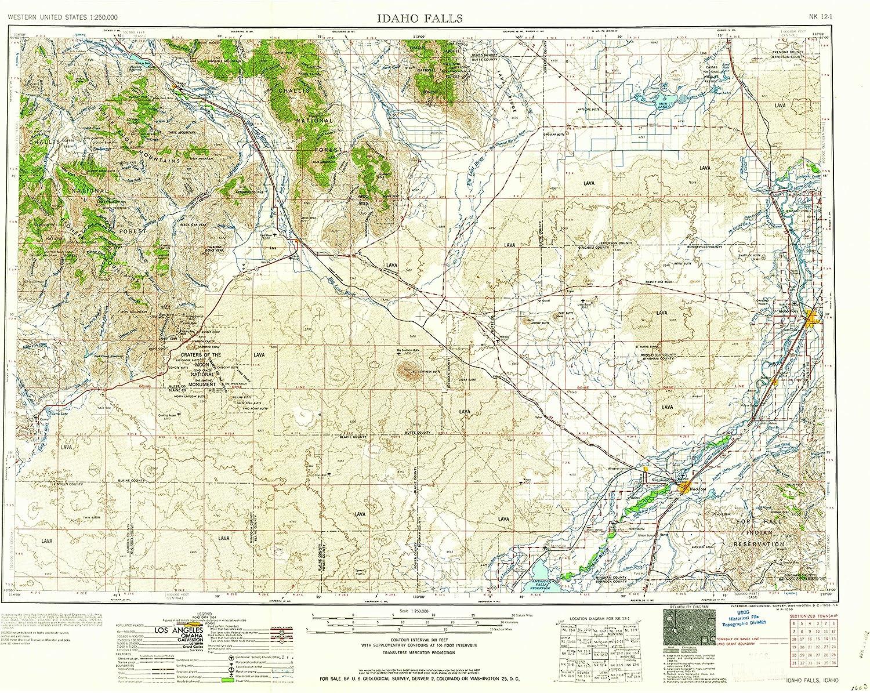 map of idaho falls id Amazon Com Yellowmaps Idaho Falls Id Topo Map 1 250000 Scale 1 map of idaho falls id