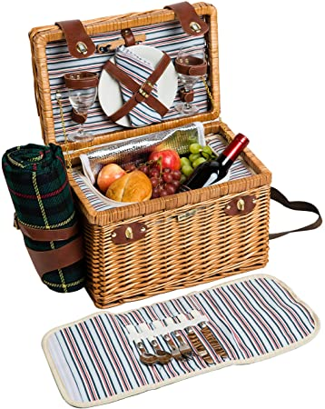 Willow Wood Picnic Basket