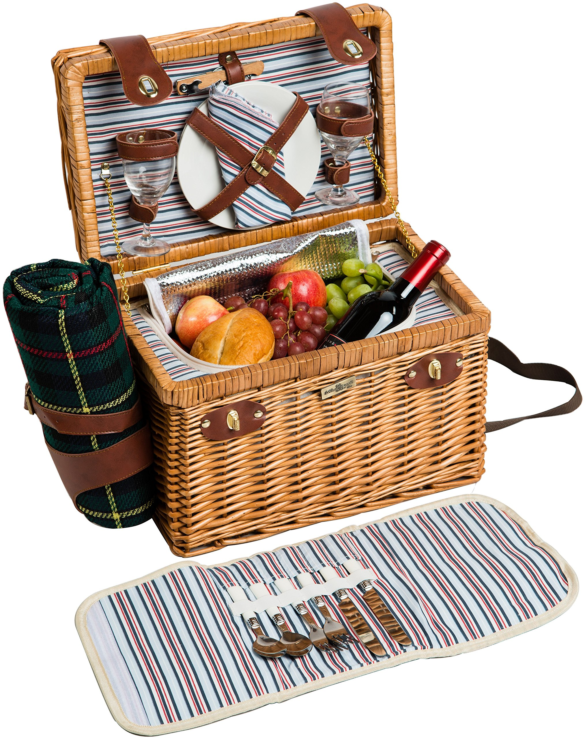 Willow & Wood Picnic Basket