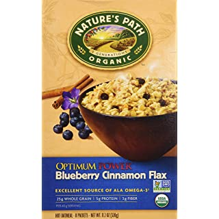 Nature's Path Organic Optimum Power Flax Cereal Blueberry Cinnamon, 11.2 Ounce
