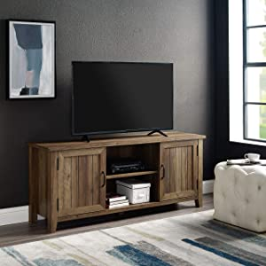 "WE Furniture AZ58CS2DRO TV Stand, 58"", Rustic Oak"