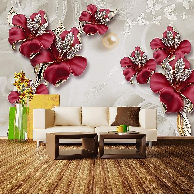 Fototapete Orchidee Lila 3D Struktur  Blumen Raumerweiterung Vliestapete Tapete