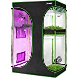 """VIVOSUN 2-in-1 60""""x48""""x80"""" Mylar Reflective Grow Tent for Indoor Hydroponic Growing System"""