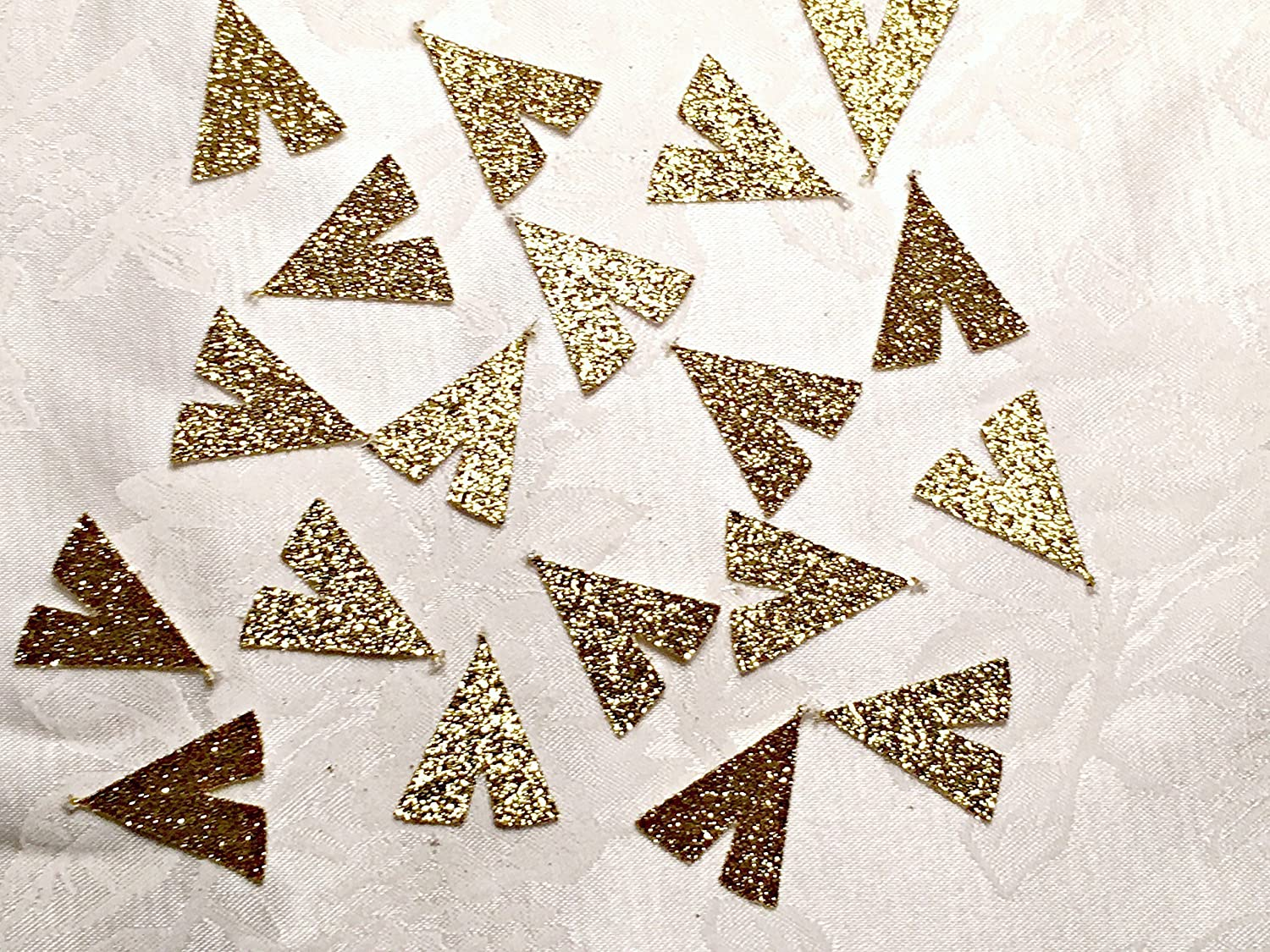 100 Glitter Tribal Party Tee Pee Shaped Confetti Table Decor, MANY COLORS AVAILABLE