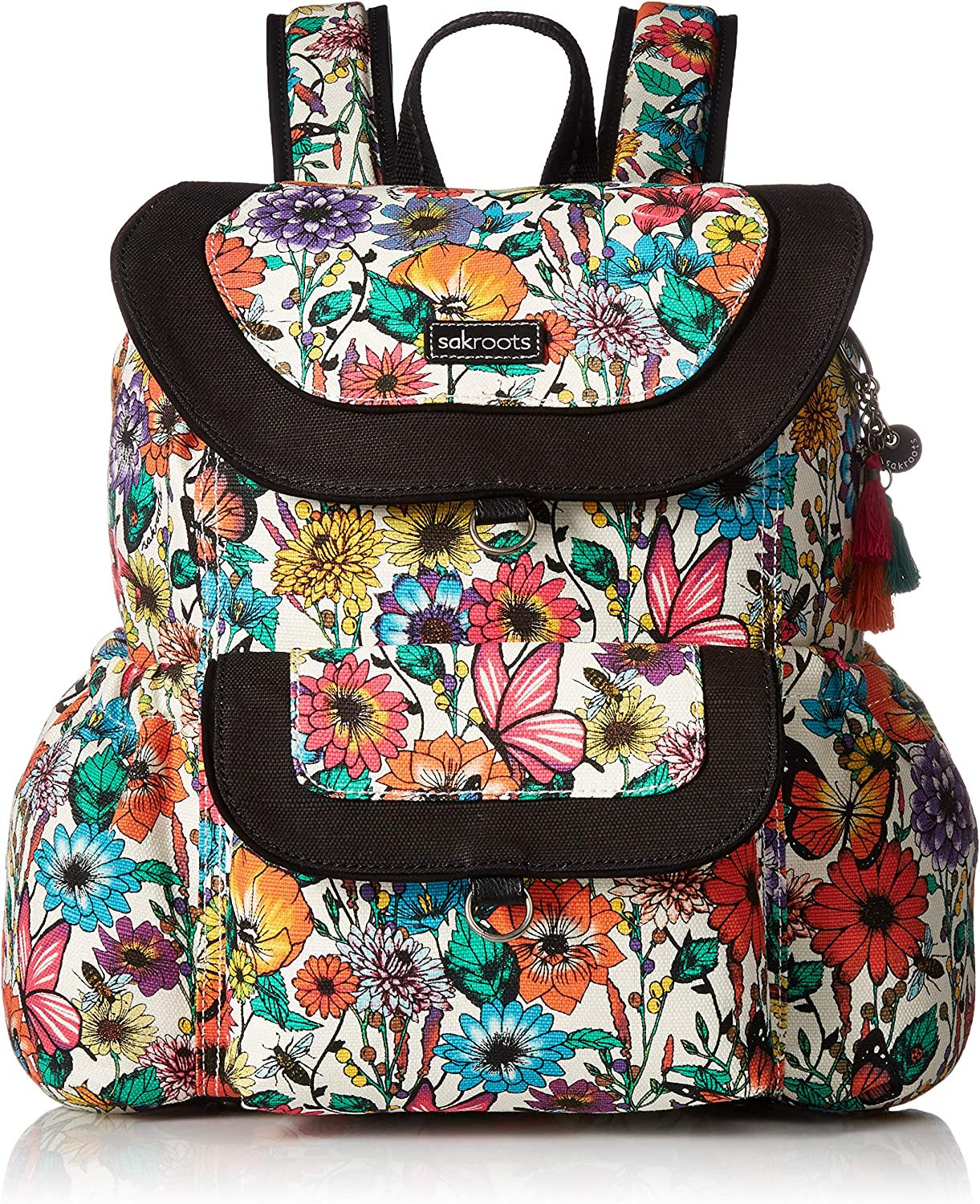 Sakroots Women's Artist Circle Flap Backpack