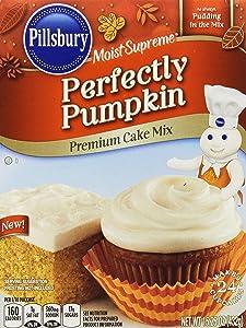 Pillsbury Moist Supreme Perfectly Pumpkin Premium Cake Mix, 15.25 Ounce