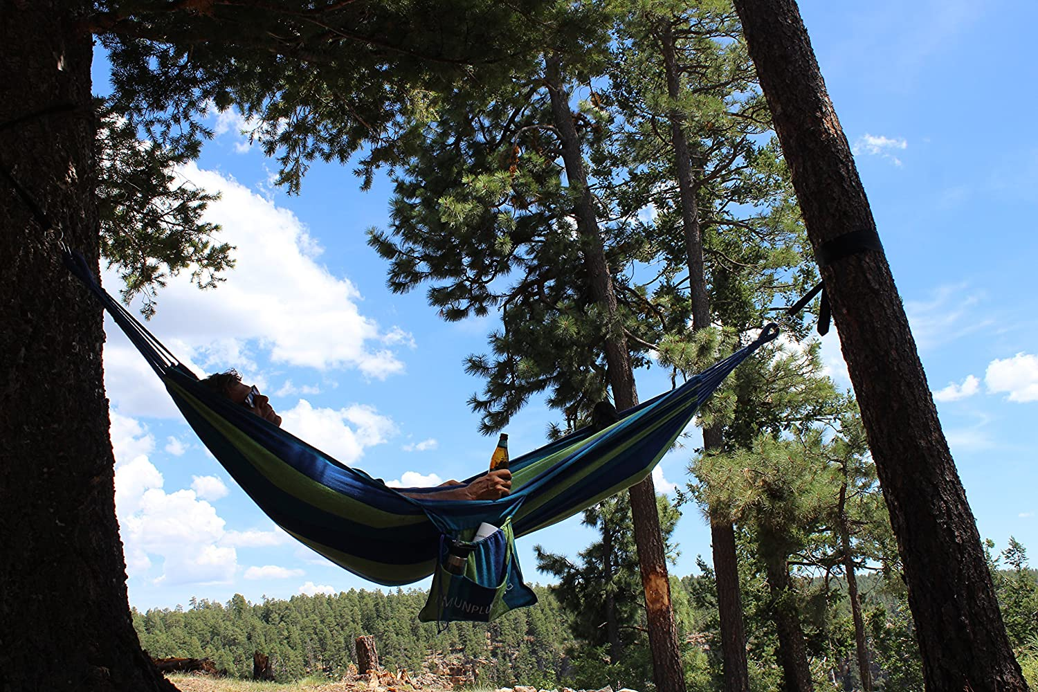 Hammock With Attached Carrying And Accessory Bag