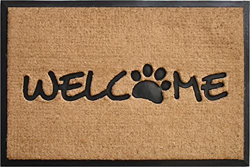 Style Basics Entrance Door Mat Runner for Pets with Embroidered Dog Bone
