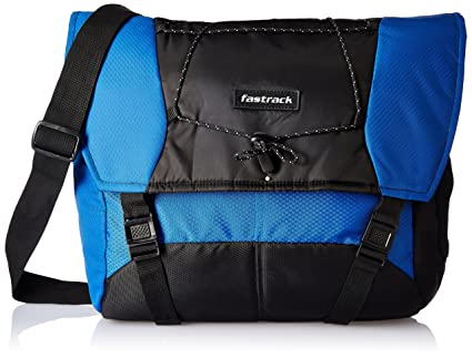a37242d8572c Fastrack Polyester 20.45 Ltrs Blue Messenger Bag (A0626NBL01)  Amazon.in   Bags