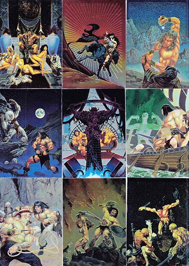 10 VARIATIONS FA CONAN SERIES 2 CHROMIUM 1994 COMIC IMAGES BASE CARD SET OF 90